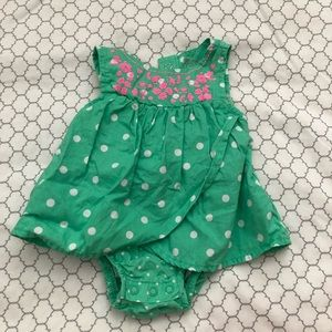 Pink & Green Polka-Dot Infant Outfit by Carter's